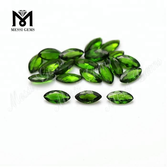 loose marquise 3*6mm natural diopside topaz gemstones
