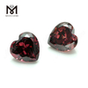 Wuzhou factory high quality loose gems 6mm cubic zirconia heart Rodolite