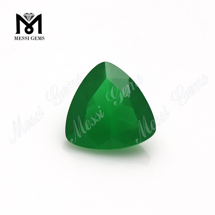 alibaba china supplier trillion loose green jade colored glass stone