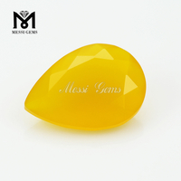 Pear cut 10x14mm yellow agate gemstones stones