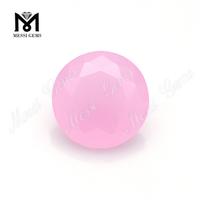 rose quartz 10mm round shape glass gemstone