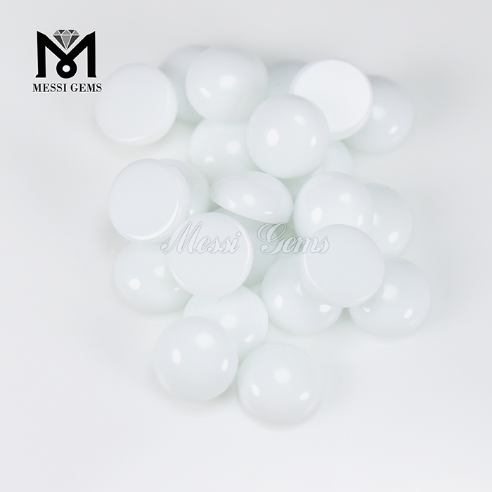 Loose Gemstone Stone Round 12mm Clear Glass Cabochon