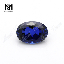 Factory Wholesale Price Synthetic Corundum, Oval Cut Blue Sapphire