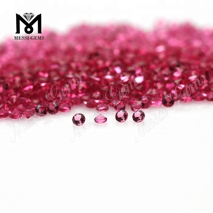 Factory Cheap Price Round 1.5mm Ruby Color Glass Stone