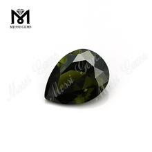 Pear Cut Loose CZ Beads Synthetic Cubic Zircon Olive Cubic Zirconia
