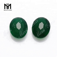 Oval 8x10MM Wholesale Natural Green Agate