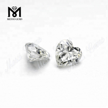 VVS Heart Cut Clear Lab Gemstones Moissanites Certified
