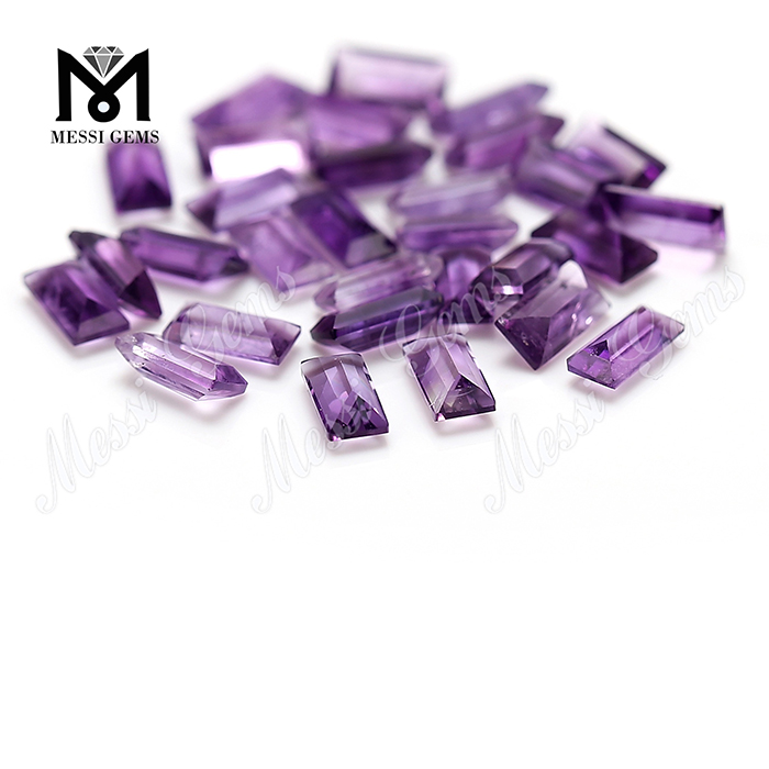 Wholesale natural gemstone 3x6 baguette shape amethyst stone price