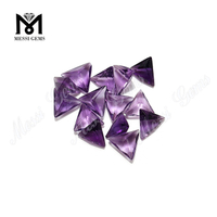 cheap wholesale triangle shape loose gemstone amethyst stones