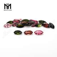 Top machine cut gemstone marquise shape natural tourmaline stone