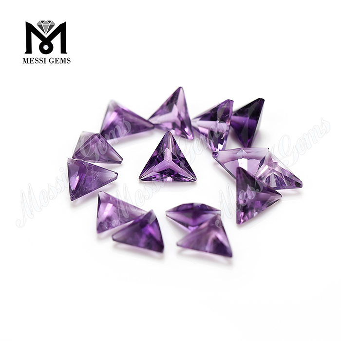 Natural gemstone 7mm triangle shape amethyst stone price