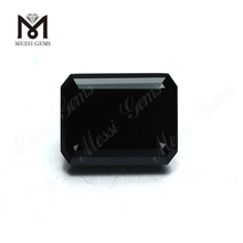 Black Moissanite Diamond Factory Price Synthetic Loose Gemstone Emerald Cut