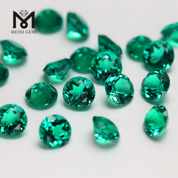 Wholesale Round colombia hydrothermal emerald loose gemstone
