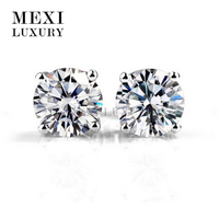 18k white gold 2ct moissanite women jewelry making wedding earring