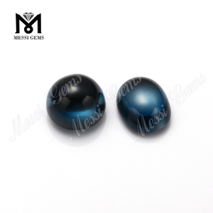 natural material round london blue topaz gemstones cabochon price per carat