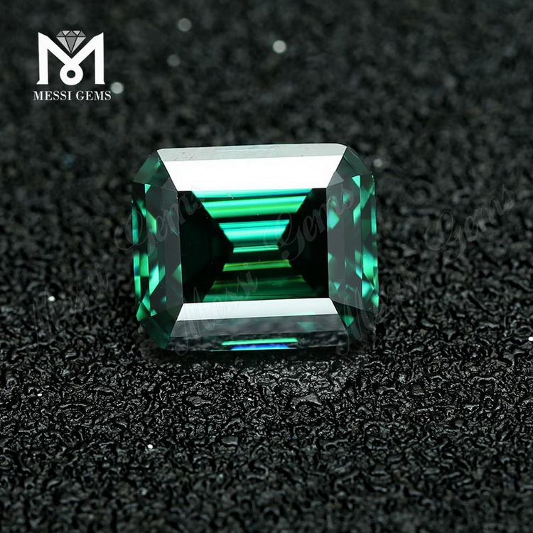 Loose price Octagon Emerald cut Green Lab created Moissanite
