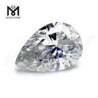 Large size 9x13mm pear cut DEF white moissanite stone loose moissanite price