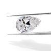 Heat diamond color play or fire Pear cut Moissanite