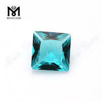 sky topaz color 9x9mm square cut china glass stone