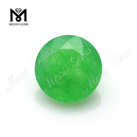 Round Shape Emerald Green Agate Beads Gemstone Natural Gemstone