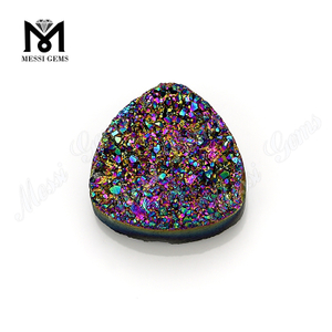 rainbow red trillion cut natural gems druzy stone suppliers in China