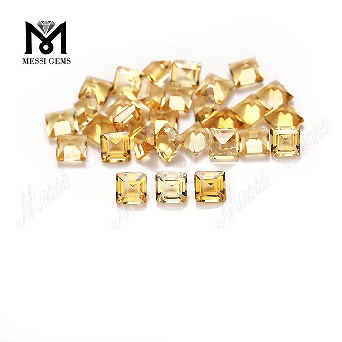 Factory price emerald cut 5x5mm square shape natural citrine