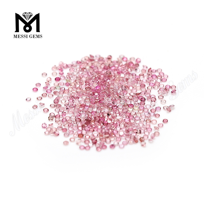Factory price round brilliant cut 1.4mm natural pink tourmaline