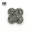 14mm clovers loose silver druzy stone, wholesale druzy