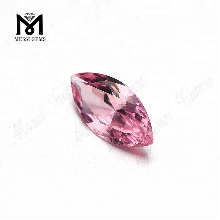 #28 Morganite Color Nanosital Marquise Cut Nanosital Gemstone