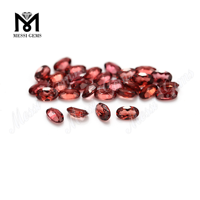 Factory price high quality 3x5mm oval natural garnet loose stone