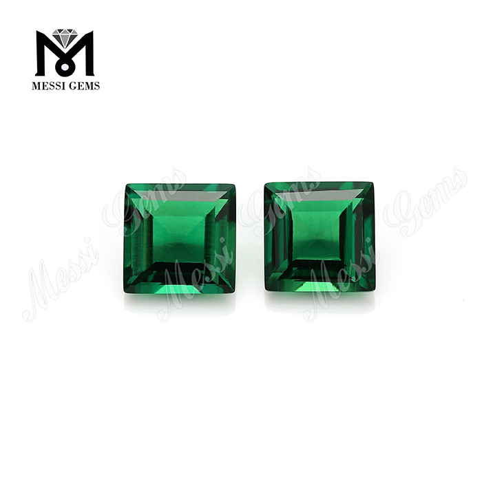 lab reated synthetic green emerald gemstones