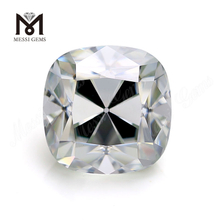 Old Mine Cushion Cut White Solitaire moissanite diamond DEF Color