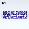 Machine cut synthetic high quality square loose colored cz cubic zirconia Lavender