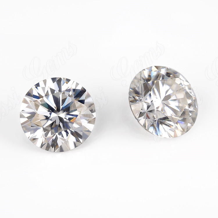 Round brilliant cut 0.9 carat vvs def white hpht cvd lab diamond with factory price