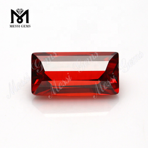 Wholesale Loose Baguette Shape 12.5 x 6.4mm CZ Garnet Cubic Zirconia Stone