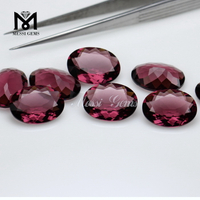 Wholesale 13x18 oval glass gemstone rhodolite glass stones for jewelry