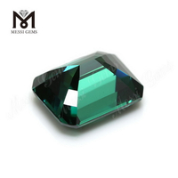 Lab created Loose gemstones price per carat Octagon Green moissanite diamond