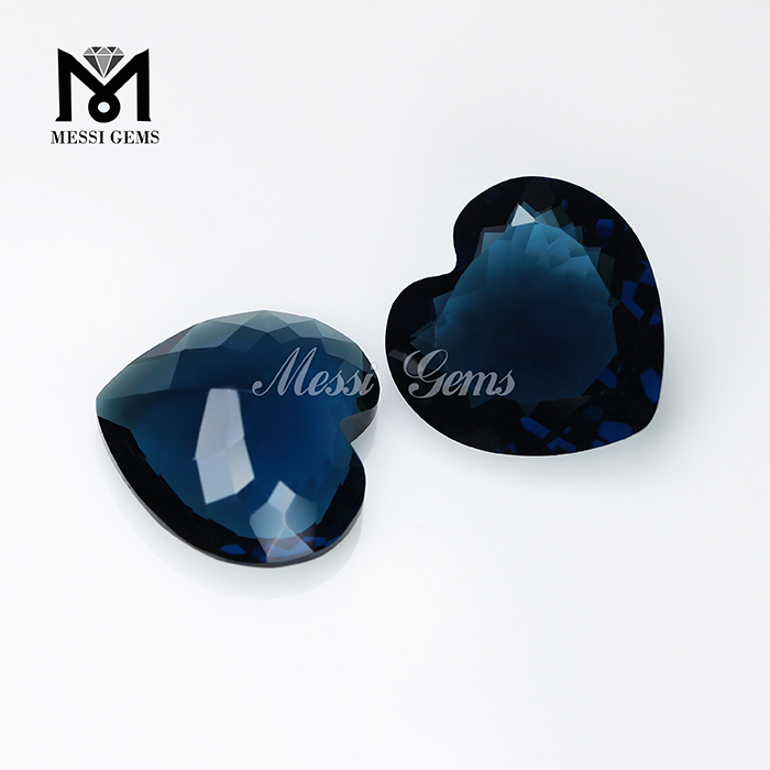 Factory Wholesale Price Glass Gemstone Heart Shape Glass Gems for Jewelry