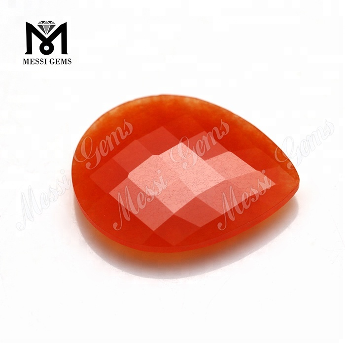 wholesale double faceted red jade stone price