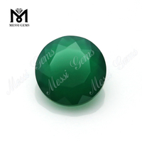 Round shape 8mm dark green agate stone