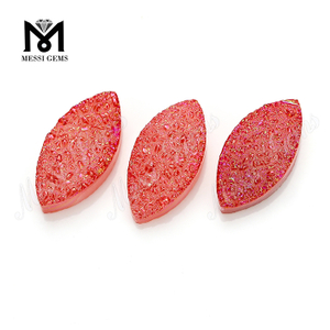 red marquise shapes real druzy diy jewelry drusy stones