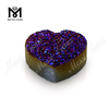 Druzy Stone Heart Shape Amethyst Color Natural Druzy Agate