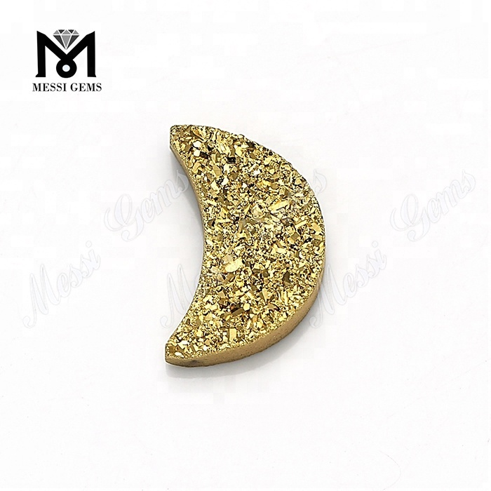 Wholesale 24K Gold Natural Druzy Agate Stone for Jewelry Making