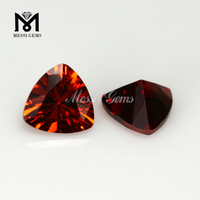 12 x 12 mm Trillion cut garnet color cubic zirconia stone