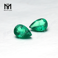 Wholesale Created Emerald Stone Pear Shape Colombia Emerald