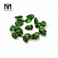 loose gemstone pear chrome green natural diopside stone