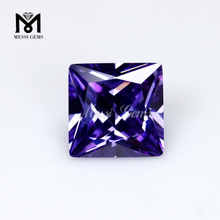 Wuzhou factory price high quality square cut loose stone cubic zirconia