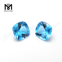 natural loose cushion blue topaz gemstone brazil per carat