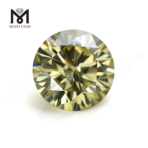Wholesale synthetic moissanite diamond brilliant cut yellow moissanite loose