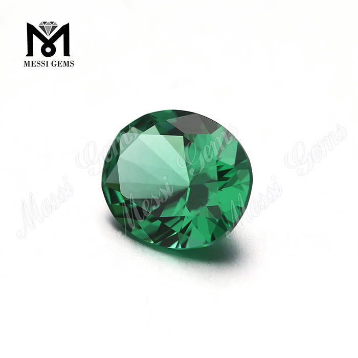 Synthetic oval shape green nanosital factory nano gemstone